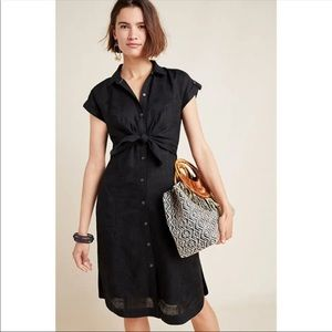 Anthro. Kamryn shirt dress black sz 10